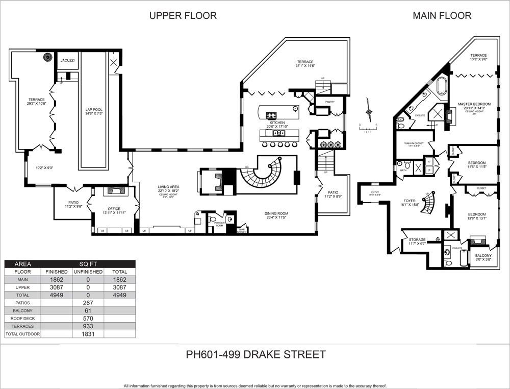 Condo Apartment at PH601 499 DRAKE STREET, Unit PH601, Vancouver West, British Columbia. Image 20