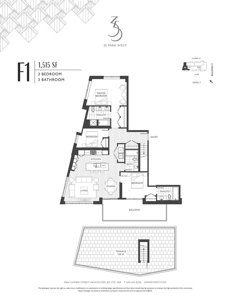 Condo Apartment at C602 4951 CAMBIE STREET, Unit C602, Vancouver West, British Columbia. Image 8