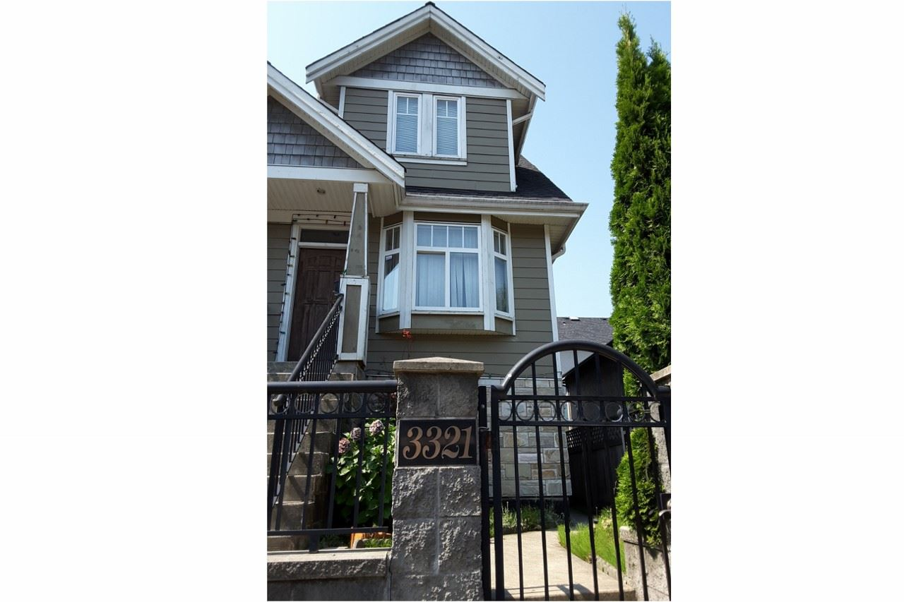 Half-duplex at 3321 KNIGHT STREET, Vancouver East, British Columbia. Image 1
