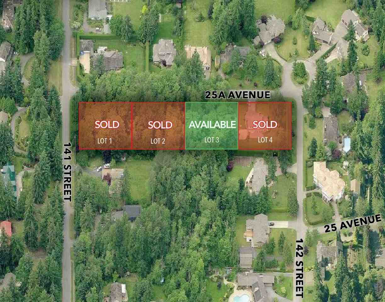 Vacant Land at 14160 25A AVENUE, South Surrey White Rock, British Columbia. Image 1