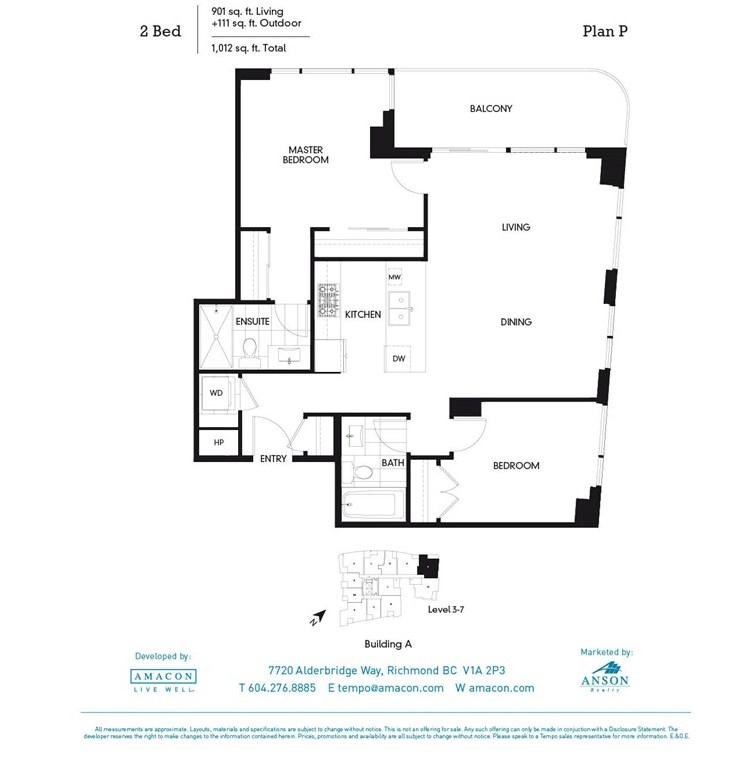 Condo Apartment at 311A 7688 ALDERBRIDGE WAY, Unit 311A, Richmond, British Columbia. Image 16