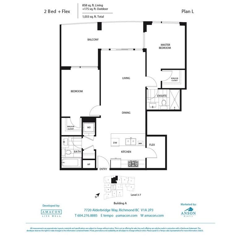 Condo Apartment at 308A 7688 ALDERBRIDGE WAY, Unit 308A, Richmond, British Columbia. Image 16