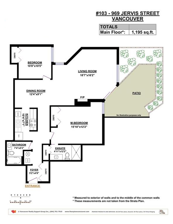 Condo Apartment at 103 969 JERVIS STREET, Unit 103, Vancouver West, British Columbia. Image 15