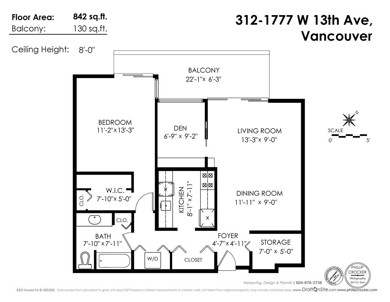 Condo Apartment at 312 1777 W 13TH AVENUE, Unit 312, Vancouver West, British Columbia. Image 7