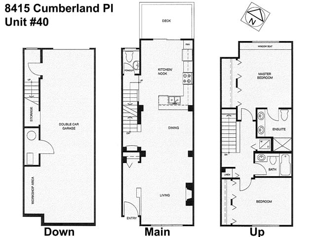 Townhouse at 40 8415 CUMBERLAND PLACE, Unit 40, Burnaby East, British Columbia. Image 2