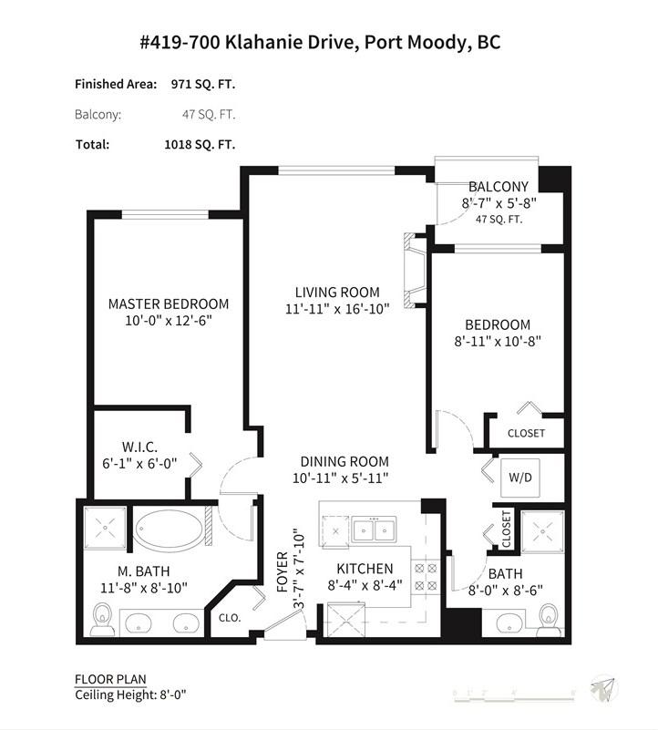 Condo Apartment at 419 700 KLAHANIE DRIVE, Unit 419, Port Moody, British Columbia. Image 14