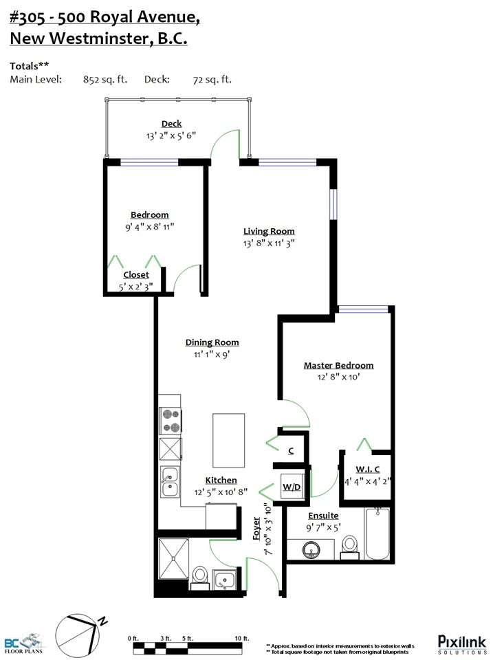 Condo Apartment at 305 500 ROYAL AVENUE, Unit 305, New Westminster, British Columbia. Image 16