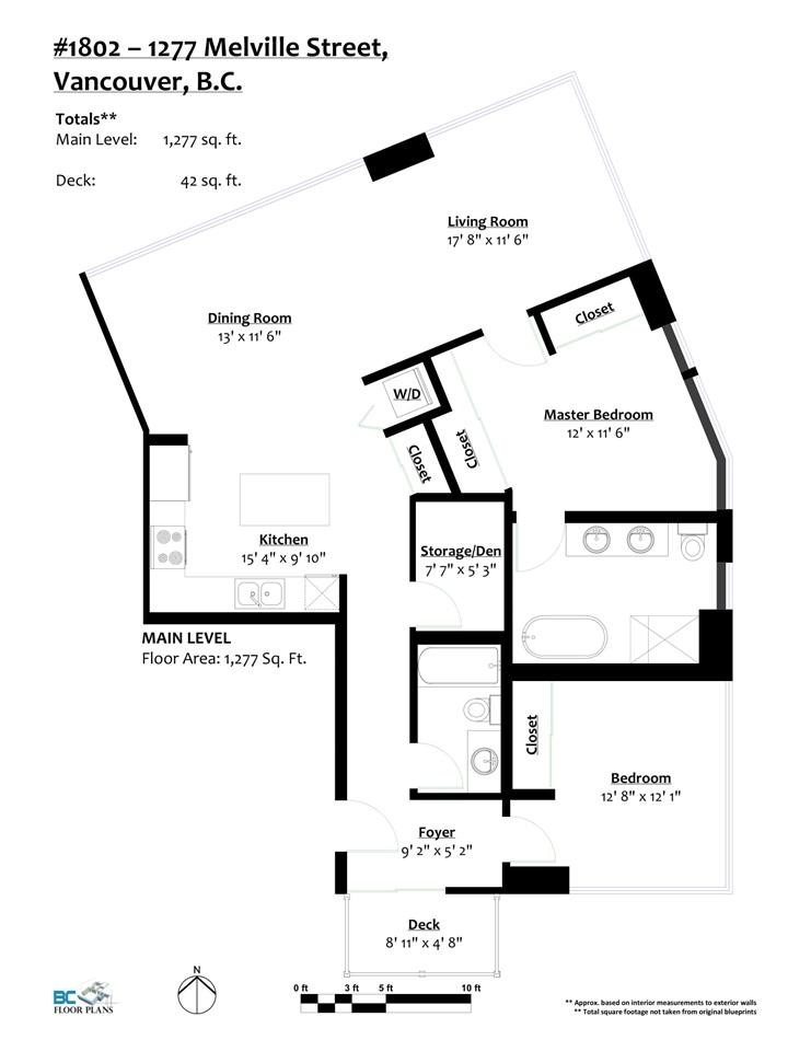 Condo Apartment at 1802 1277 MELVILLE STREET, Unit 1802, Vancouver West, British Columbia. Image 19
