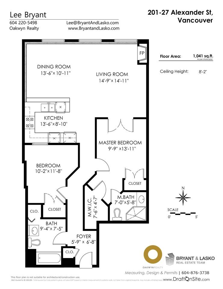 Condo Apartment at 201 27 ALEXANDER STREET, Unit 201, Vancouver East, British Columbia. Image 16