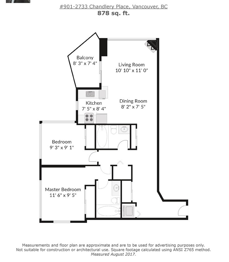 Condo Apartment at 901 2733 CHANDLERY PLACE, Unit 901, Vancouver East, British Columbia. Image 16