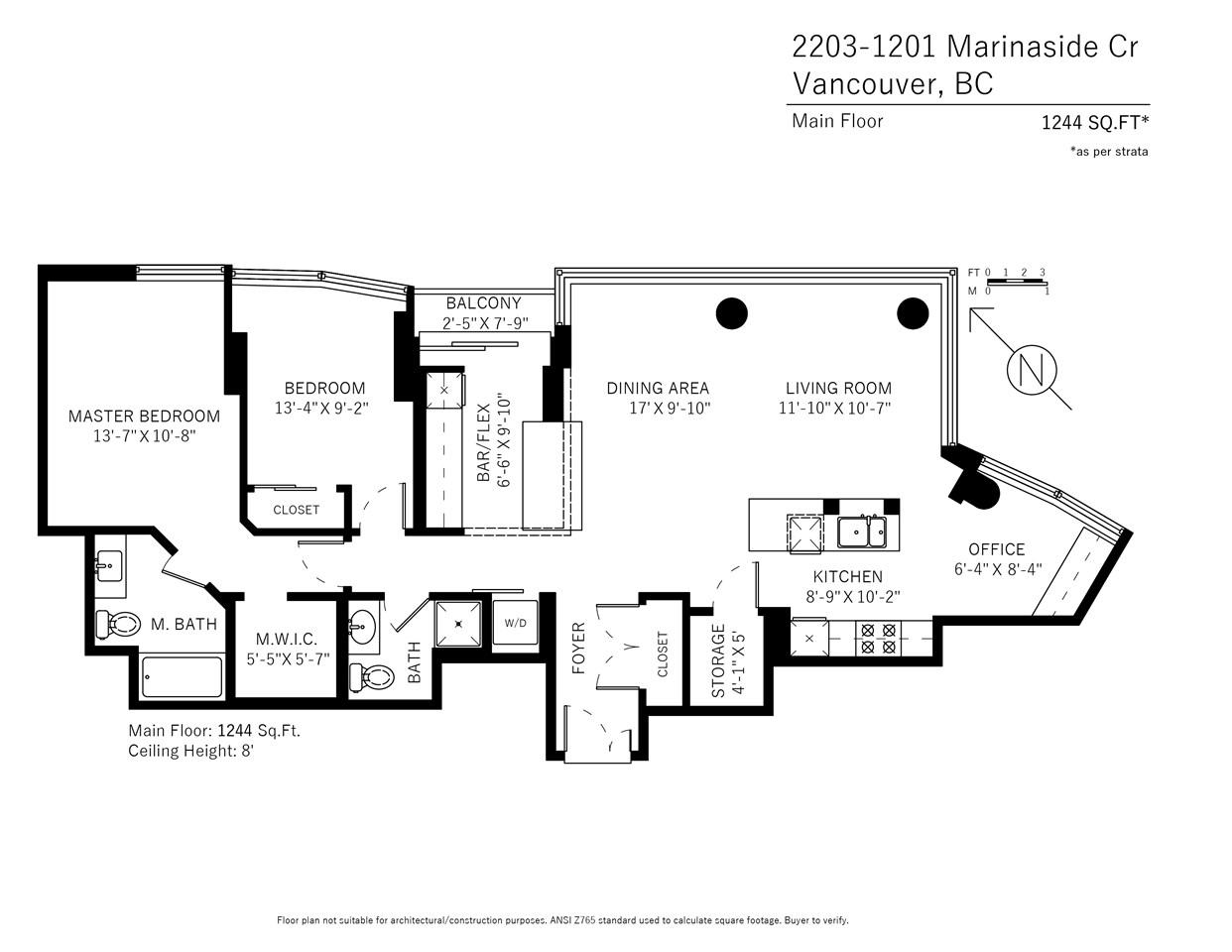 Condo Apartment at 2203 1201 MARINASIDE CRESCENT, Unit 2203, Vancouver West, British Columbia. Image 20