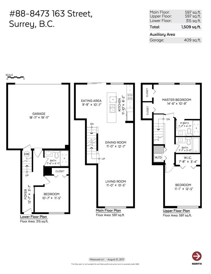 Townhouse at 88 8473 163 STREET, Unit 88, Surrey, British Columbia. Image 20