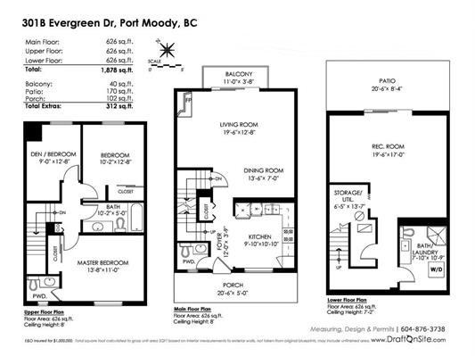 Townhouse at 301B EVERGREEN DRIVE, Port Moody, British Columbia. Image 20