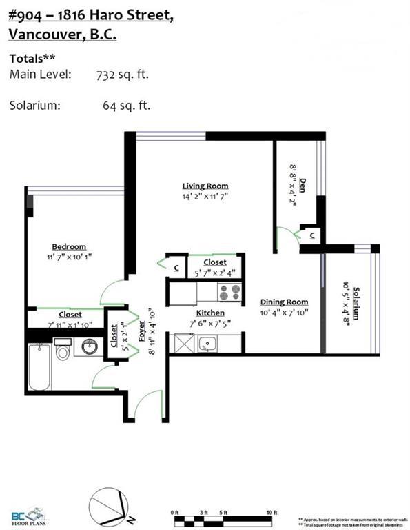 Condo Apartment at 904 1816 HARO STREET, Unit 904, Vancouver West, British Columbia. Image 2