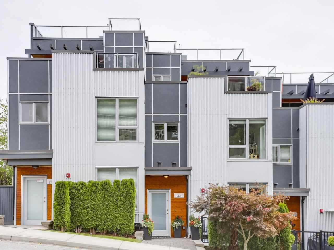 Townhouse at 8428 GLADSTONE STREET, Vancouver East, British Columbia. Image 1