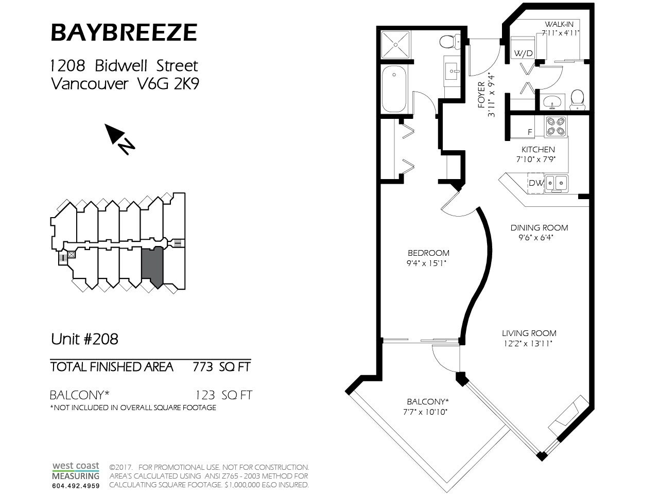Condo Apartment at 208 1208 BIDWELL STREET, Unit 208, Vancouver West, British Columbia. Image 2