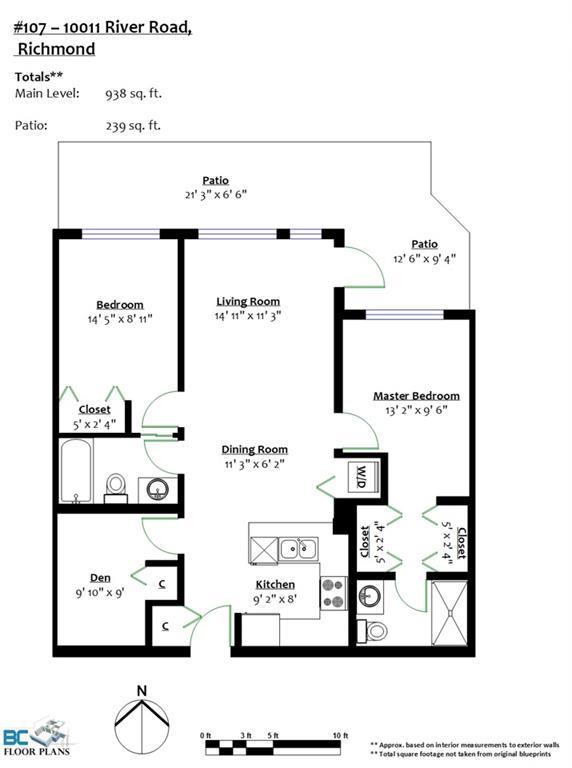 Condo Apartment at 107 10011 RIVER DRIVE, Unit 107, Richmond, British Columbia. Image 19