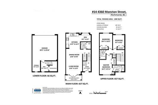 Townhouse at 14 4360 MONCTON STREET, Unit 14, Richmond, British Columbia. Image 16