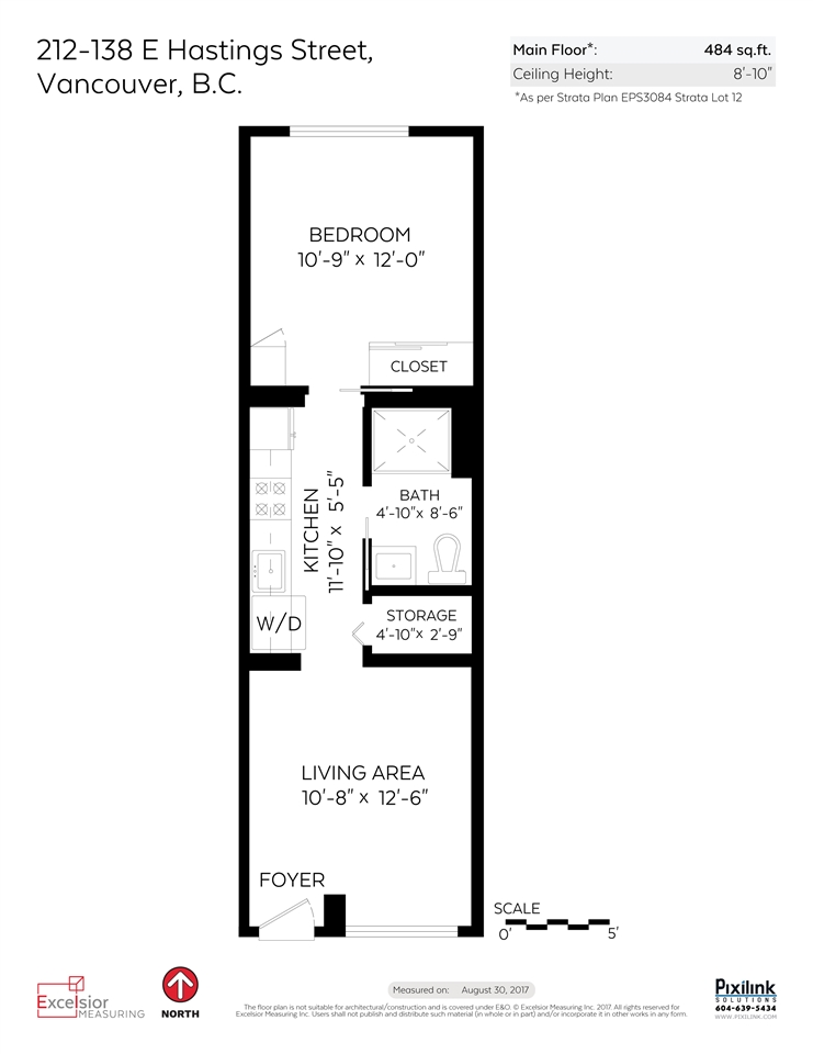 Condo Apartment at 212 138 E HASTINGS STREET, Unit 212, Vancouver East, British Columbia. Image 16