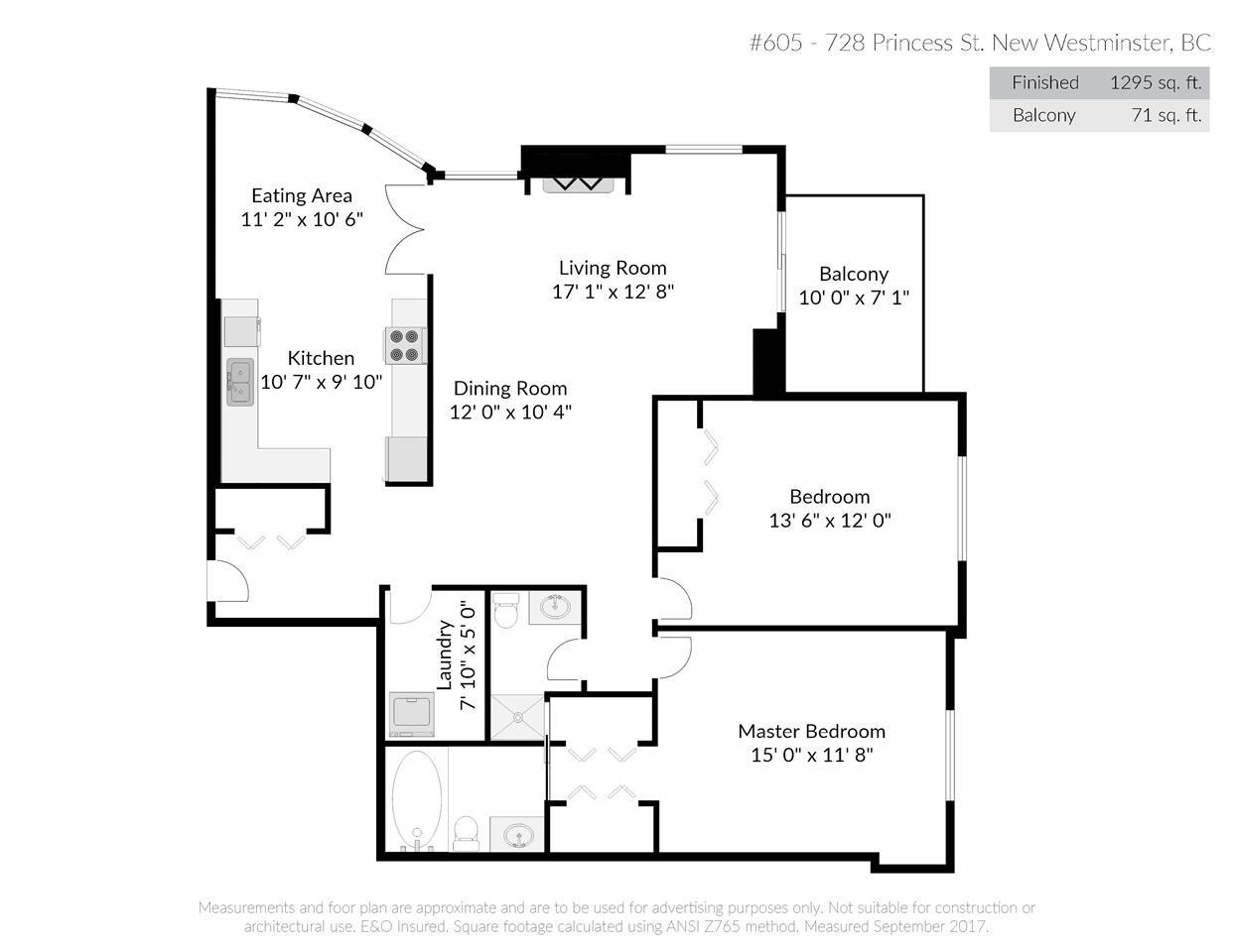 Condo Apartment at 605 728 PRINCESS STREET, Unit 605, New Westminster, British Columbia. Image 2