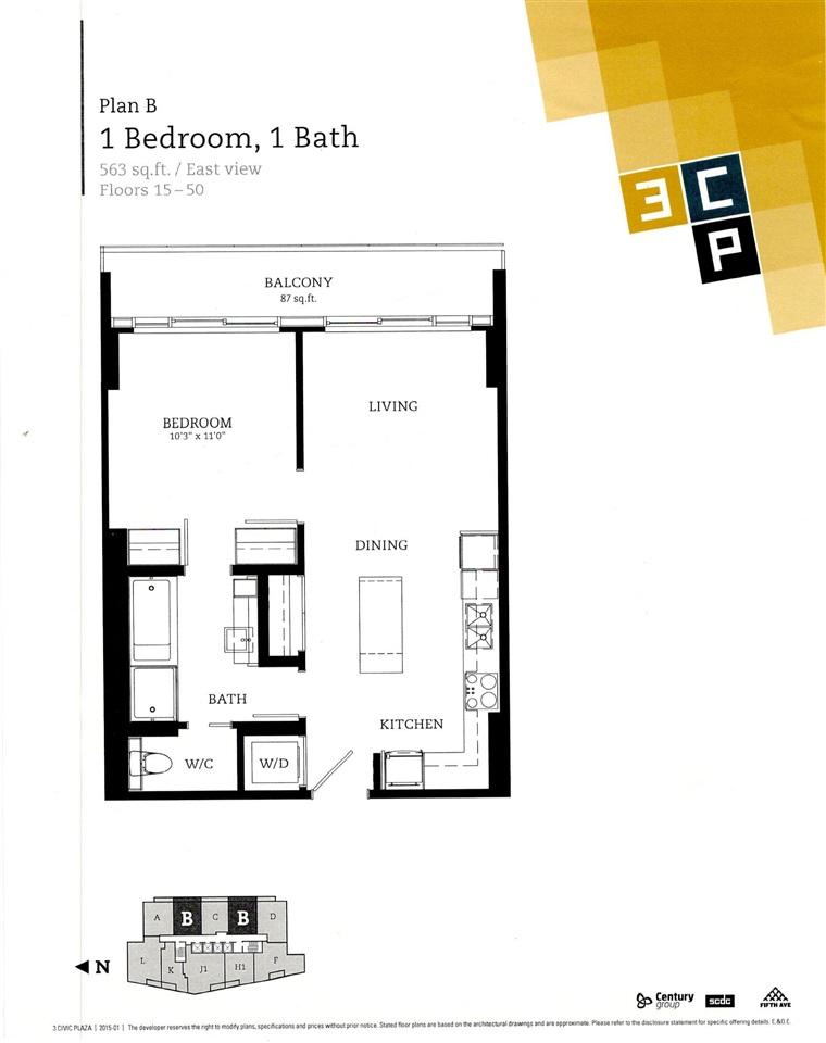 Condo Apartment at 3804 13481 103 AVENUE, Unit 3804, North Surrey, British Columbia. Image 3