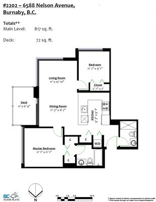 Condo Apartment at 2202 6588 NELSON AVENUE, Unit 2202, Burnaby South, British Columbia. Image 20