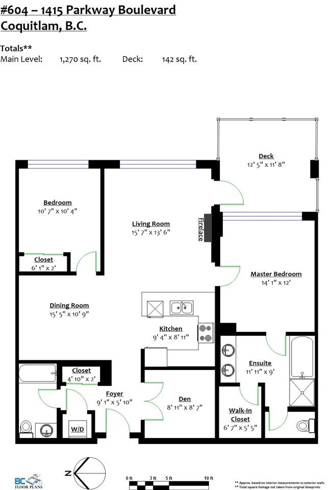 Condo Apartment at 604 1415 PARKWAY BOULEVARD, Unit 604, Coquitlam, British Columbia. Image 20