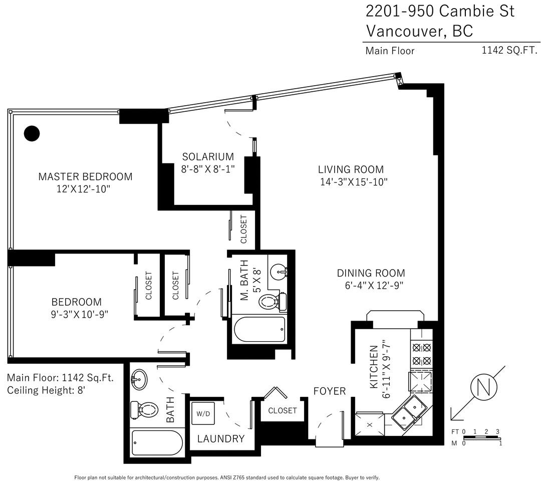 Condo Apartment at 2201 950 CAMBIE STREET, Unit 2201, Vancouver West, British Columbia. Image 16