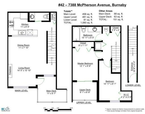 Townhouse at 42 7388 MACPHERSON AVENUE, Unit 42, Burnaby South, British Columbia. Image 20
