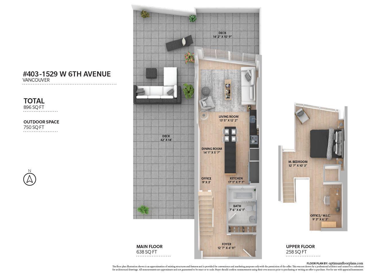 Condo Apartment at 403 1529 W 6TH AVENUE, Unit 403, Vancouver West, British Columbia. Image 20
