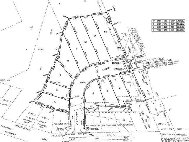 Vacant Land at Lot 11 572 O'leary Lane, Tay, Ontario. Image 2