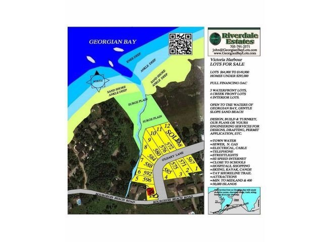 Vacant Land at 575 O'leary Lane, Unit Lot 3, Tay, Ontario. Image 2
