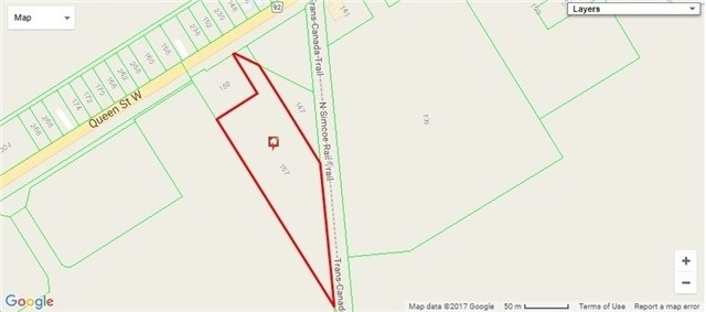 Vacant Land at 157-159 Queen St W, Springwater, Ontario. Image 2
