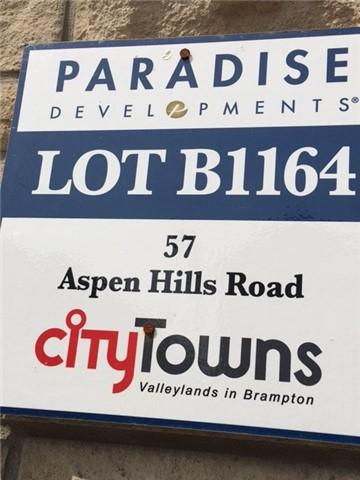 Townhouse at 57 Aspen Hills Rd, Brampton, Ontario. Image 5