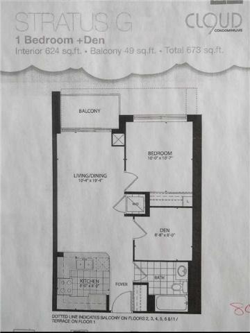 Condo Apartment at 80 Esther Lorrie Dr, Unit 808, Toronto, Ontario. Image 3