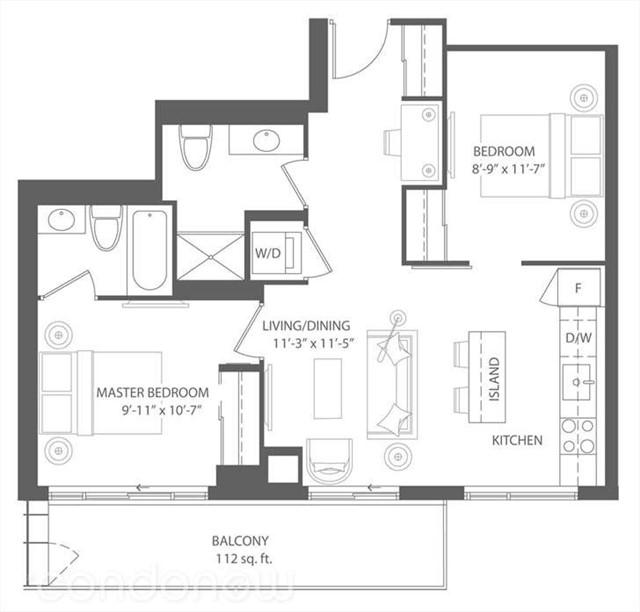 Condo Apartment at 2175 Lake Shore Blvd W, Unit 1711, Toronto, Ontario. Image 9