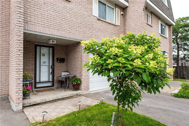 Condo Townhouse at 830 Westlock Rd, Unit 26A, Mississauga, Ontario. Image 1