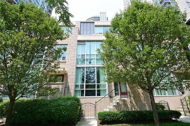 Condo Townhouse at 90 Absolute Ave, Unit 111, Mississauga, Ontario. Image 1