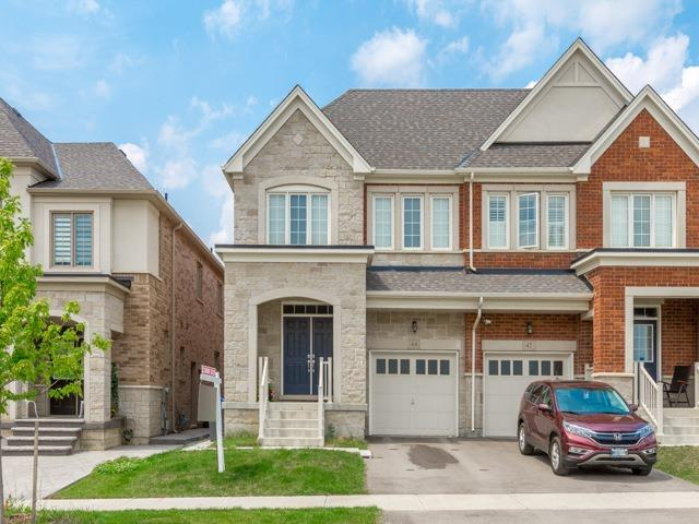 Semi-detached at 44 Rising Hill Rdge, Brampton, Ontario. Image 1