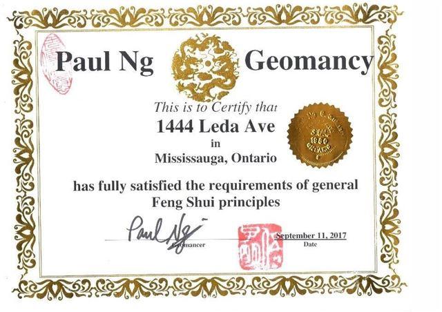 Detached at 1444 Leda Ave, Mississauga, Ontario. Image 14