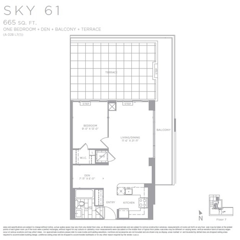 Condo Apartment at 2183 Lakeshore Blvd W, Unit 711, Toronto, Ontario. Image 2