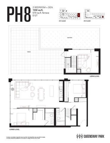 Condo Apartment at 784 The Queensway Ave, Unit Ph08, Toronto, Ontario. Image 3