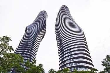 Condo Apartment at 60 Absolute Ave, Unit 1501, Mississauga, Ontario. Image 1