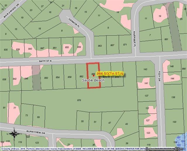 Vacant Land at 866 Sixth St N, South Bruce Peninsula, Ontario. Image 1