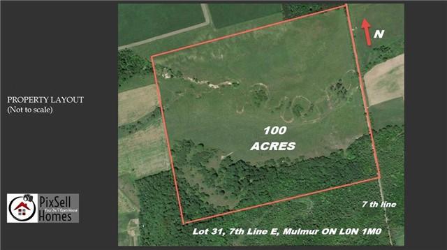 Vacant Land at Lot 31 7th Line E, Mulmur, Ontario. Image 11
