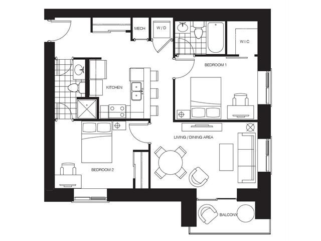 Condo With Common Elements at 318 Spruce St S, Unit 1210, Waterloo, Ontario. Image 2