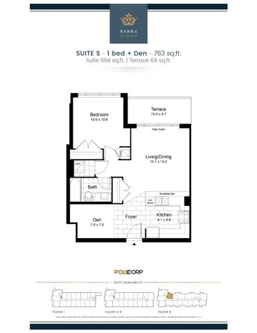Condo Apartment at 399 Queen St S, Unit 616, Kitchener, Ontario. Image 2
