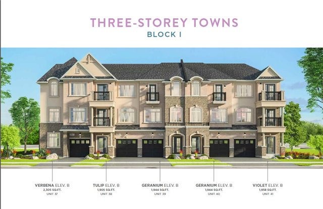 Townhouse at Lot 40 Street B St, Hamilton, Ontario. Image 1