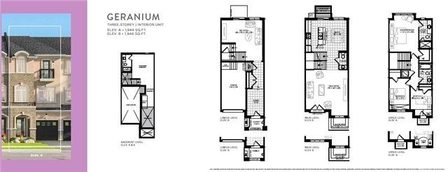 Townhouse at Lot 40 Street B St, Hamilton, Ontario. Image 3