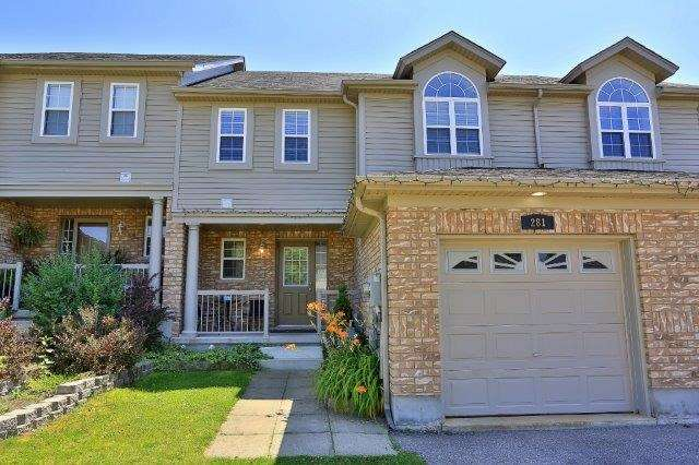 Townhouse at 281 Mcmeeken Dr, Cambridge, Ontario. Image 1